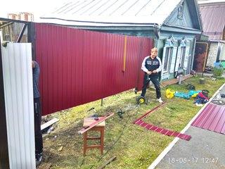 Забор из профнастила Щелково - цены с установкой под ключ от 1123 руб.